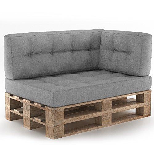 Palettenkissen Palettenmöbel Sitzkissen Rückenkissen Palettensofa Palettenpolster Kissen Sofa Polster Indoor Outdoor Anthrazit (Grau)
