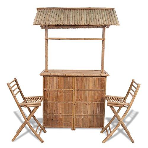 Bambus Barset | die überdachte Bar hat ein unverwechselbares Design