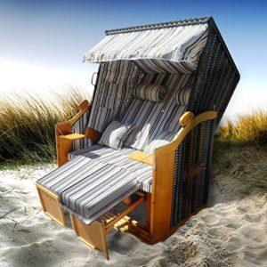 BRAST Strandkorb Ostsee Sonneninsel Poly-Rattan | Strandkorb XXL
