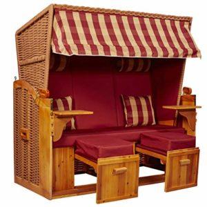 intergrill Strandschönheiten Joan Ostsee XXL Strandkorb 2,5-Sitzer Verschiedene Dekor Terrassen Wintergärten Garten - Strandkorb XXL