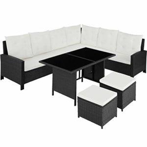 TecTake 800753 Polyrattan Lounge Set für Garten und Terrasse    Loungemöbel Polyrattan    Loungemöbel für Draussen