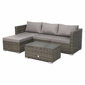 SVITA Queens 2020 Poly Rattan Sitzgruppe  | Polyrattan Garten Lounge  | Loungemöbel Outdoor