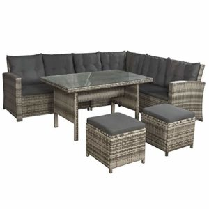 ArtLife Polyrattan Sitzgruppe Lounge Santa Catalina  | Gartenlounge bis 6 Personen  | Sitzgruppe Lounge