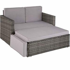 TecTake 800693 Poly Rattan Lounge Set    Loungemöbel Polyrattan    Loungemöbel