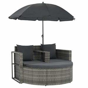 vidaXL Gartenlounge mit Sonnenschirm  | Gartenlounge mit Sonnenschirm  | Gartensofa-Garnitur