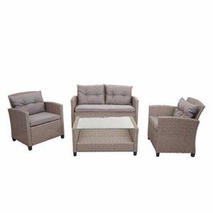Mendler XXL Poly-Rattan Garnitur  | XXL Poly-Rattan Garnitur  | Lounge-Set Sitzgruppe