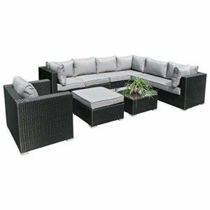 Hansson Polyrattan Lounge Sitzgruppe    Polyrattan Sitzgarnitur    Gartenmöbel Garnitur