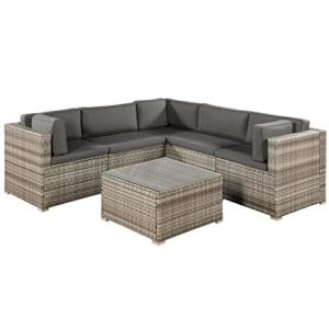 ArtLife Polyrattan Lounge Sitzgruppe Nassau  | Gartenlounge für 4 - 5 Personen  | Loungemöbel Polyrattan