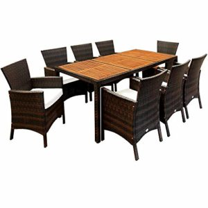 Deuba Poly Rattan Sitzgruppe Garten  |  Poly Rattan Sitzgruppe   | Dining Lounge Möbel