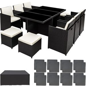 TecTake Poly Rattan Aluminium Gartengarnitur    Poly Rattan Aluminium Gartengarnitur     Loungemöbel