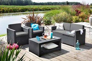 Koll Living Lounge Set Korsika  | Polyrattan Lounge-Set  | Rattan Sitzgruppe