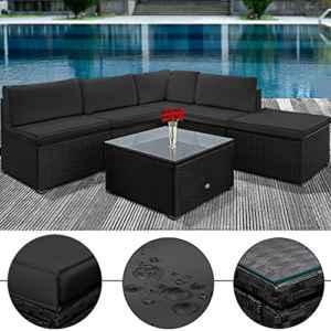 Poly Rattan Lounge Set Sitzgruppe Sitzgarnitur Gartenmöbel Gartenset Gartenliege