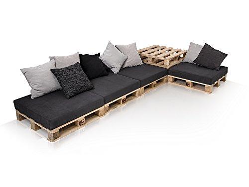 PALETTI Sofalandschaft II Sofa aus Paletten Fichte natur | Fichte natur