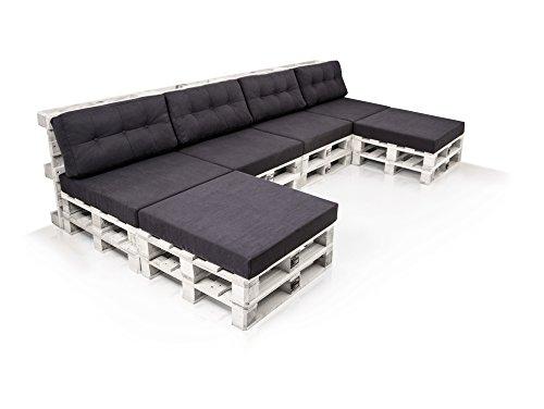 PALETTI Sofalandschaft Sofa aus Paletten Fichte | Fichte weiss